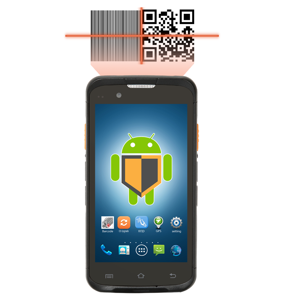 handheld wireless GPRS 4G android pda with barcode scanner