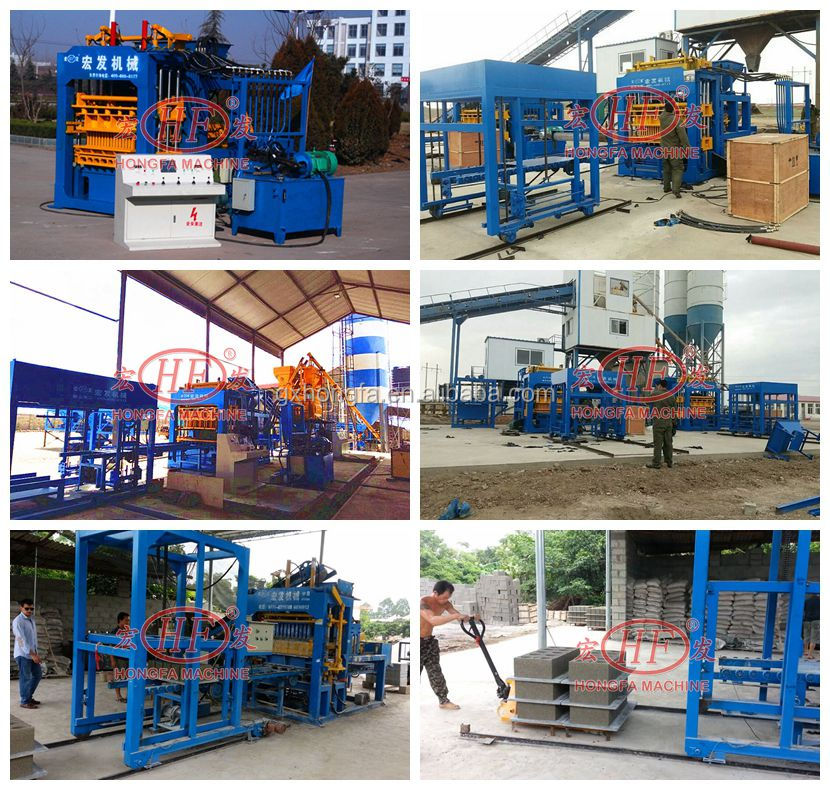 Automatic Concrete Block Making Machine QT4 Cement Hollow Block Molding Machine with High Capacity