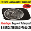 for Toyota Corolla Axio Fielder 2007 ON the best price auto fog lamp