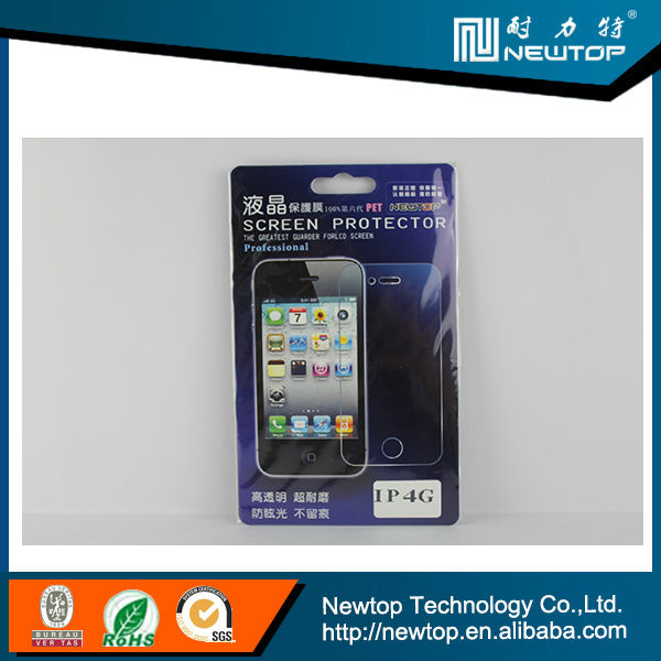 Mobile Scratch Guard,Factory Price,High Quality! Clear Screen Protector For Iphone4s(Front and back)