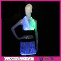 Fashion rainbow color changed LED mature women sexy mini skirt set