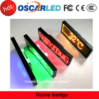 Factory Price Programmable Scrolling LED Name Badge, LED Name Tag in Shenzhen Oscarled
