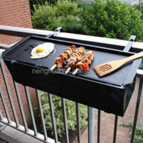 Portable balcony hanging barbeque grill commercial for Barbacoa bbq