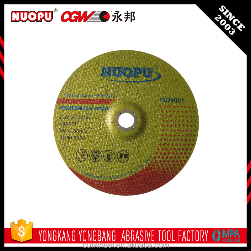 Not easy to crack abrasive disc power tools type cutting wheels