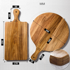 wooden round shape pizza bread chopping blocks cutting board