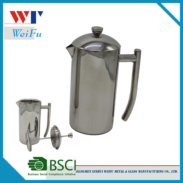 600ML Double wall stainless steel french coffee press