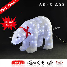 IP44 Outdoor LED polar bear christmas decoration