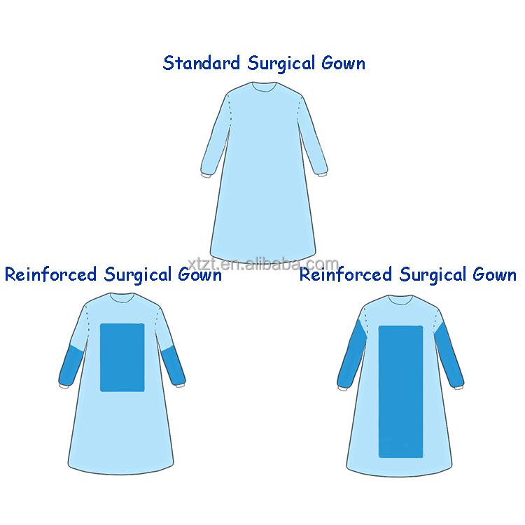 Medical Clothes, SMS Surgical Gown, Disposable Medical Doctor Gown