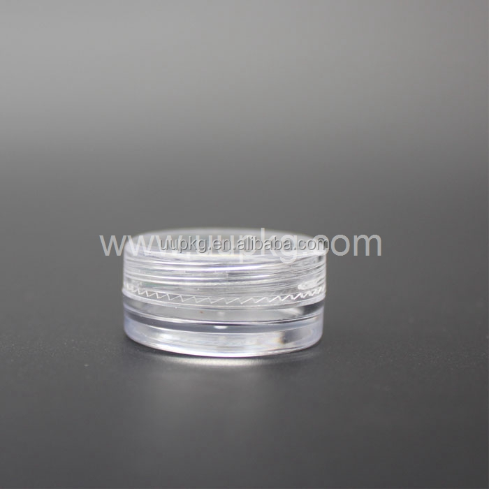 UU PACKAGING 3ml clear plastic jar