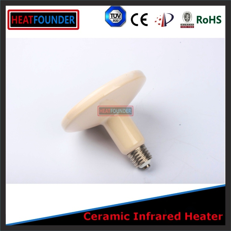 Electrical far infrared radiant heater ceramic emitter