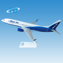 1/100 39.5cm Blueair B737-800 plastic plane model