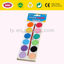 12 Colour water color card in OPP Bag with Printed Cardboard Header