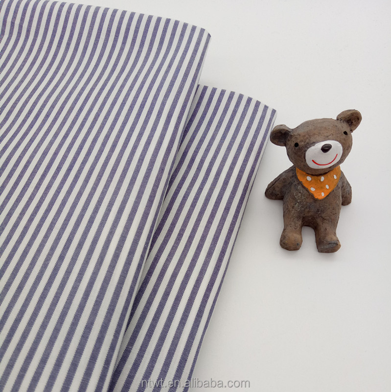 Wholesale 40s Stripe Yarn Dyed Pure Cotton Shirting Poplin Fabric