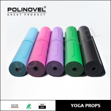 Brand new fitness yoga mat rubber eco PU natural rubber thin yoga mats with position line