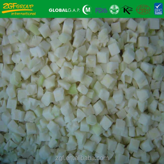IQF frozen diced cauliflower stems