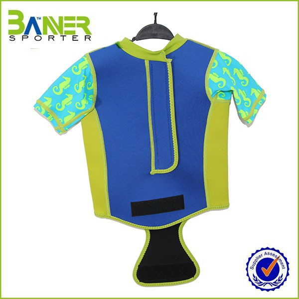 OEM custom shorty sleeve neoprene polyester sublimated surfing wetsuit