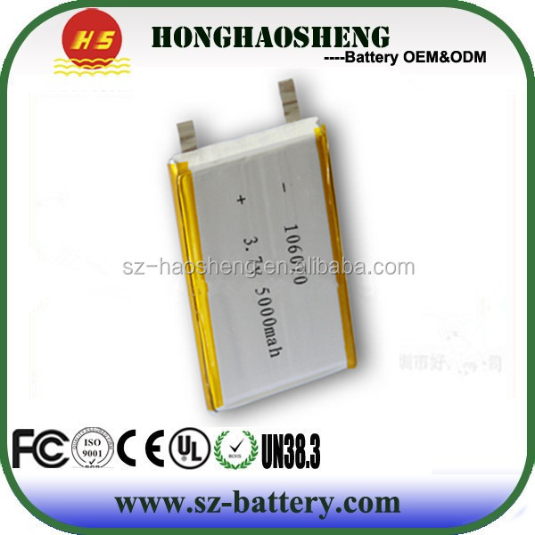 Rechargeable Li-po Battery 3.7v Li-ion Polymer 5000mah Battery 106070