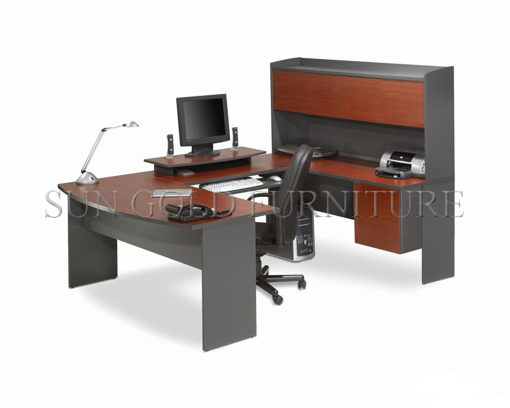 Hot sale modern office furniture ushape with filing