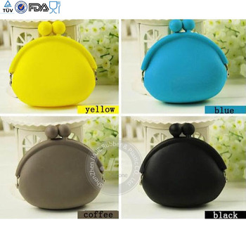 promotion silicone change purse,high quality silicone purse,silicone purse handbag