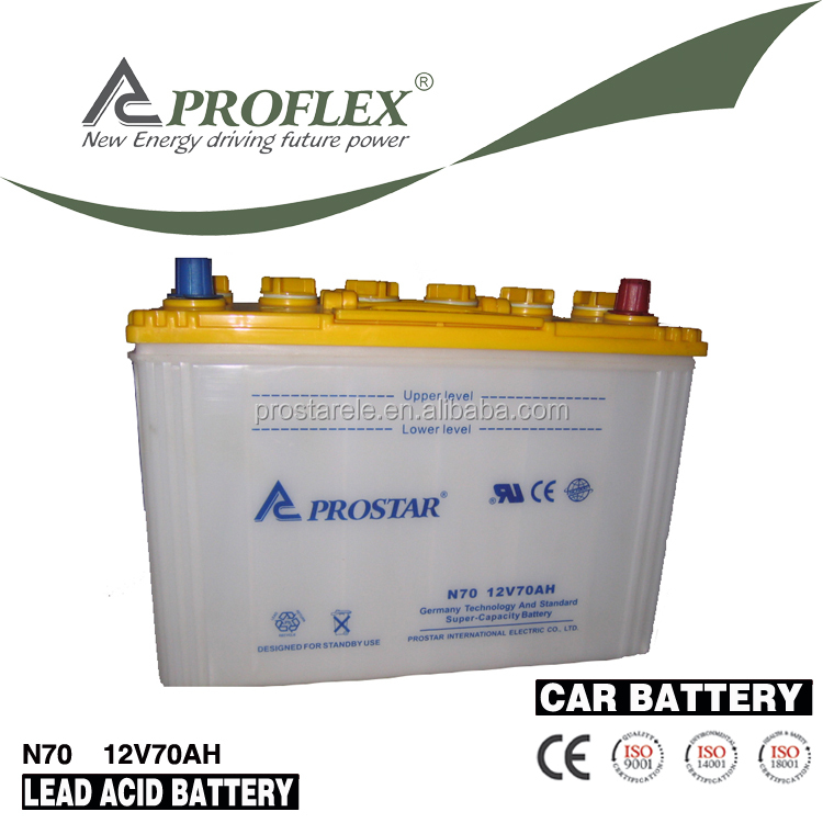 South Africa 12V 70AH Auto battery, Heavy duty battery, Truck battery (26Ah to 200Ah)