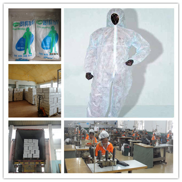 disposable white coverall dust proof protective clothing