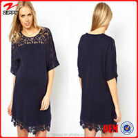 Hot Selling Round Neck Maternity Lace Dress and Midi lady dress