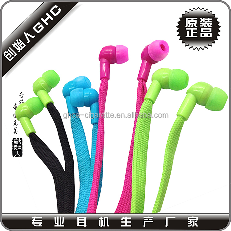 braided fabric cord earphone shoelace earbuds for <strong>sport</strong>