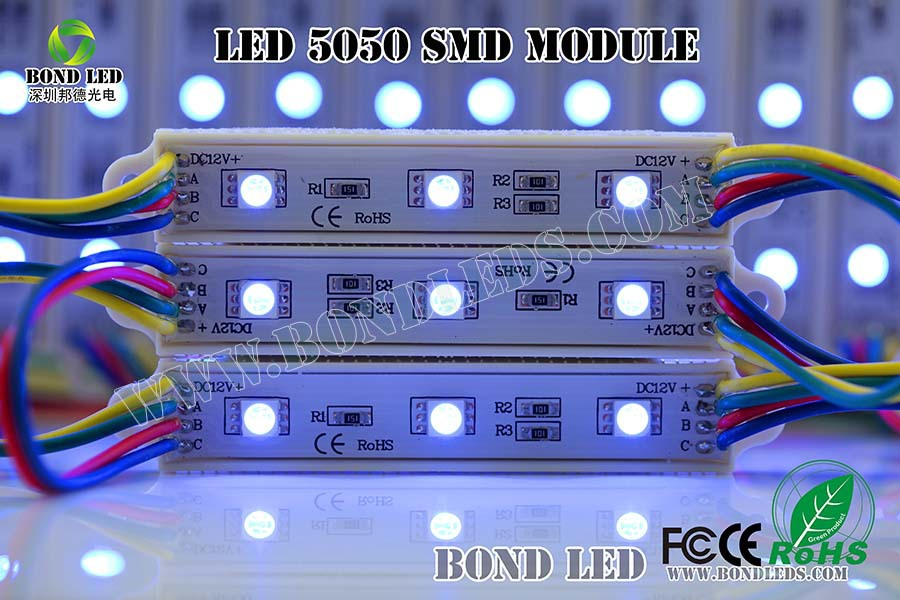 IP68 3 leds 2835 smd Waterproof Led Module with Lens Injection DC12V
