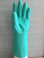 YJ-001 Hot sale anti oil&chemical flock lined industrial nitrile glove