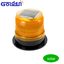 Amber emergency flashing warning solar powered beacon led car roof light