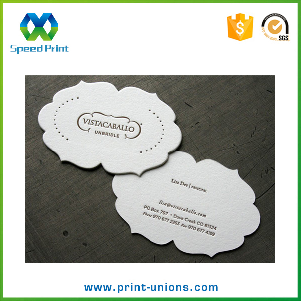 Cotton paper thick cards custom letterpress printing hot sale business cards