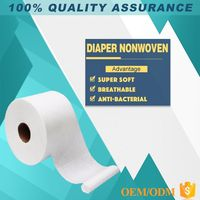 China Manufacturers Hydrophobic Fabric sms polypropylene spunbonded nonwoven non woven fabric in roll