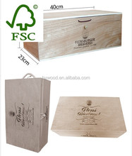 old antique unfinished cheap custom plywood wooden wine boxes used for sale