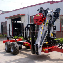 8ton log loader trailer with crane
