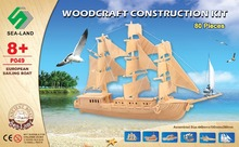 DIY Miniature Model Kit Wooden Ship Puzzle