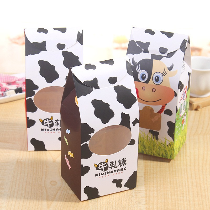Custom Unique Shape Folding Paper Nougat Candy Package Box