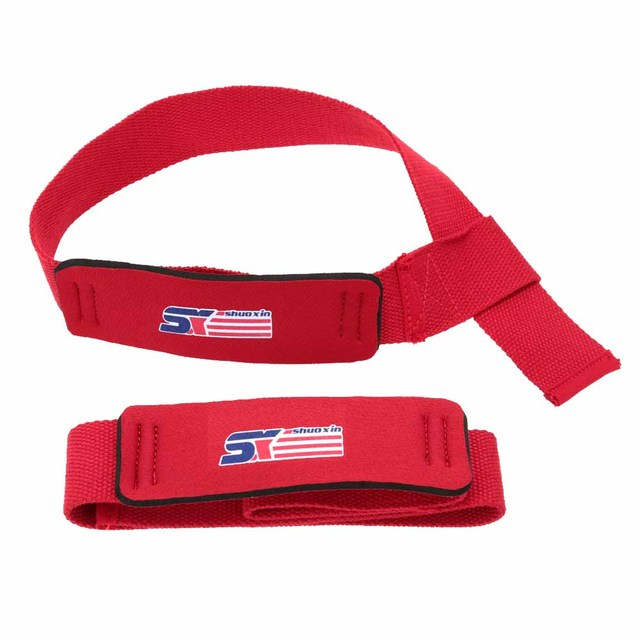 1Pair Weight Lifting Straps Crossfit Wrist Support Strap Brace Hand Bar Body Building Gym Fitness Safety Wristband