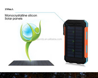 8000mah portable solar mobile phone charger/solar cell phone charger/solar power bank