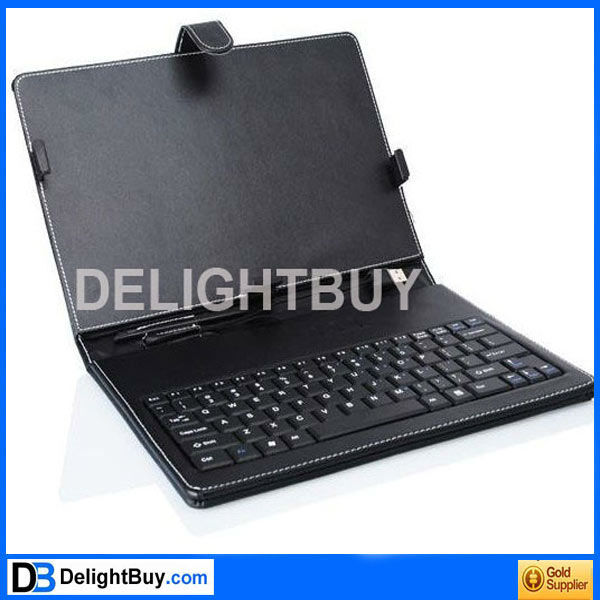 7 inch USB 2.0 Leather Keyboard Case Cover for Android Tablet ePad uPad MID
