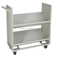 V-shaped Book Trolley/ Steel Library Book Trolley