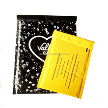 Customized printed poly air bubble mailer bag padded plastic mailing bags shock resistant packaging