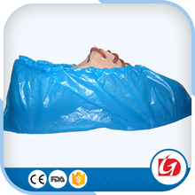blue shoes cover pe film shoe cover Medical disposable cpe shoe cover, cpe overshoes