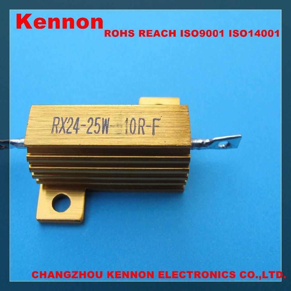 Rx24 25w 50w 100w 200w Wire Wound Resistor Aluminium Case Wirewound ...