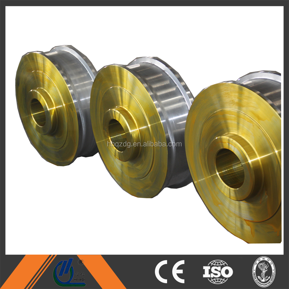 42CrMo double flange forging wheel