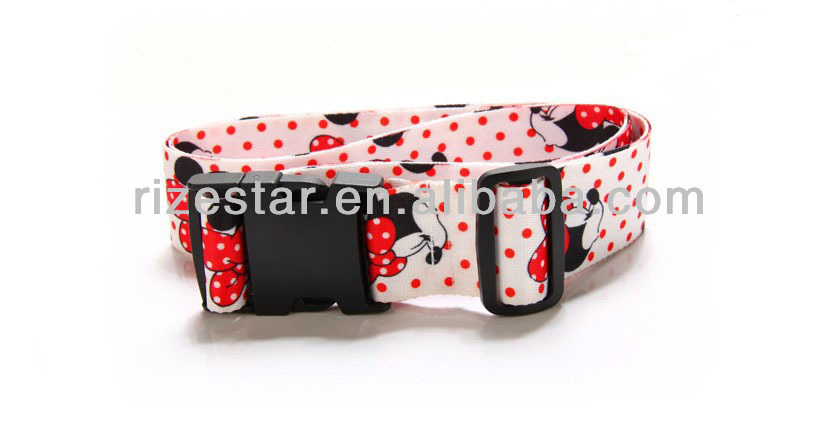 cartoon printed elastic luggage strap for kids