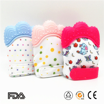 Mitt Food Grade Silicone Baby Teether Mitten Food Grade Baby Mittens Teething Gloves Chewable Molar Silicone Gloves