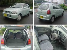 2000 Used car SUZUKI ALTO EPO 5/Sedan/RHD/35000km/Gas/Petrol/Silver