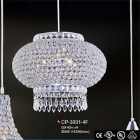 Top quality big crystal lighting chandelier battery operated underwater wedding vase light