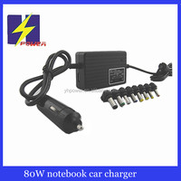 DC-DC car power supply 80W universal laptop adapter with USB 5V 1A