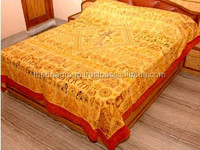 Traditional Kantha work and embroidery Bedsheet